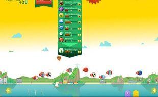 Capture d'écran du jeu Forward+50, lancé à l'occasion du sommet Rio+20 du 15 au 21 juin 2012.