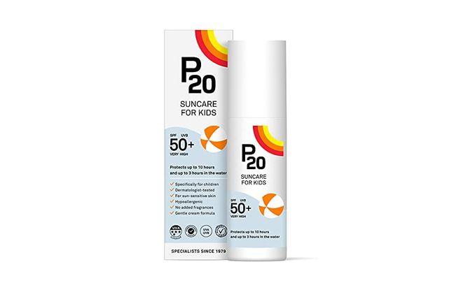 Crème solaire pour bébé P20