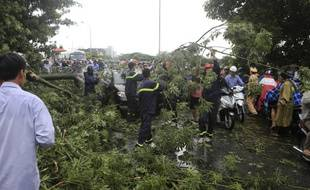 Le Vietnam subit plus d'une dizaine de tempêtes ou de typhons chaque année. (image d'illustration=