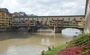 Le Ponte Vecchio à Florence (Italie). (Illustration)