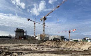 Le chantier de Center Parcs du Lot-et-Garonne, qui doit s'achever en 2022.