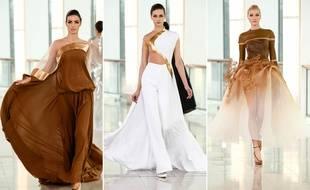 Stephane Rolland a présenté sa collection haute couture printemps-été 2015 le 27 janvier à la Maison de la radio.