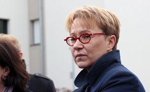 La député-maire de Rennes Nathalie Appéré, ici en mars 2016, lors de la visite de la ministre du logement Emmanuelle Cosse.