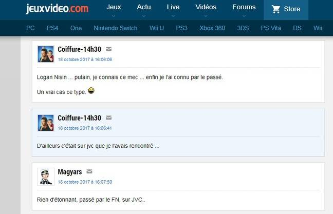 Capture d'écran d'une discussion sur un forum Jeuxvideo.com.