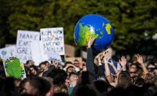 Une manifestation pour le climat à Stockholm en Suède, en septembre 2019.