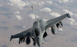 Un Rafale français dans le ciel irakien, le 17 octobre 2014.