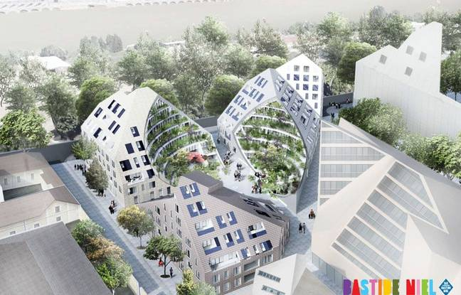Le projet d'immeubles d'habitation du groupe immobilier Pichet dans la ZAC Bastide-Niel, quai de Queyries à Bordeaux