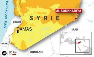 Carte de situation de l'attaque américaine d'un village syrien, le 26 octobre 2008.