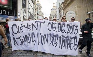 Rassemblement en hommage à Clément Méric le 6 juin 2013 rue Caumartin où il trouvé la mort la veille.