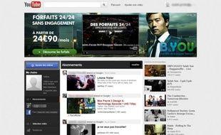 La nouvelle interface de YouTube que Google s'apprête à lancer.