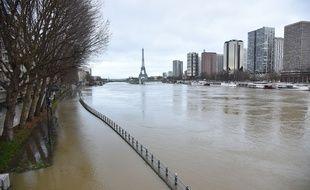 Paris, le 23 janvier 2018 - Crue de la Seine à Paris.