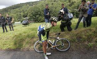 Alberto Contador sur le Tour de France le 14 juillet 2014.
