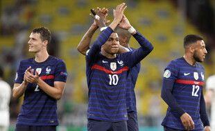 Kylian Mbappé est satisfait, l'équipe de France s'est imposée 1-0 pour son premier match de l'Euro face à l'Allemagne, le 15 juin 2021.