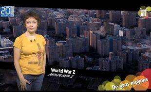 Caroline Vié présente sa chronique de cinéma sur le film «Word War Z»