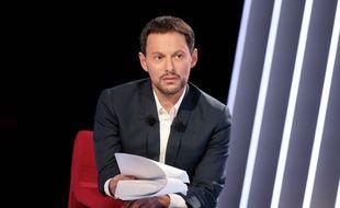 Marc-Olivier Fogiel lors d'un enregistrement de son émission «Le Divan».