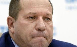 Igor Kaliapine, président du Comité russe contre la torture tient une conférence de presse, le 28 juillet 2015 à Moscou