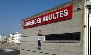 Strasbourg, le 14 mars 2016 - Les urgences adultes de l'hôpital de Hautepierre.
