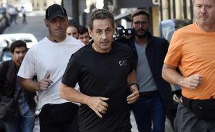 Nicolas Sarkozy faisant son jogging le 16 septembre 2014 à Paris