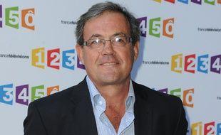 Le journaliste Benoît Duquesne à la conférence de rentrée de France Télévisions en 2012.