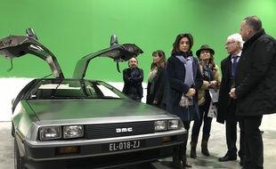 Martine Vassal, présidente des Bouches-du-Rhône, en visite à Provence Studio.