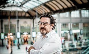 Le journaliste David Dufresne, lors de notre entretien à Paris, le 1er octobre 2020.