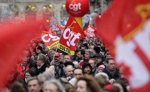 Lille, le 9 janvier 2020. Première manifestation de l'année contre la réforme des régimes de retraites.