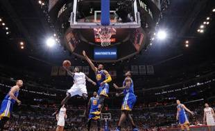 Le match 5 du 1er tour des play-offs NBA entre les Los Angeles Clippers et les Golden State Warriors, le 29 avril 2014.