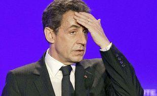Nicolas Sarkozy aux Sables d'Ollonne en mai 2012.