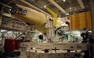 Un chaîne de montage à l'usine Airbus le 23 octobre 2012 à Toulouse