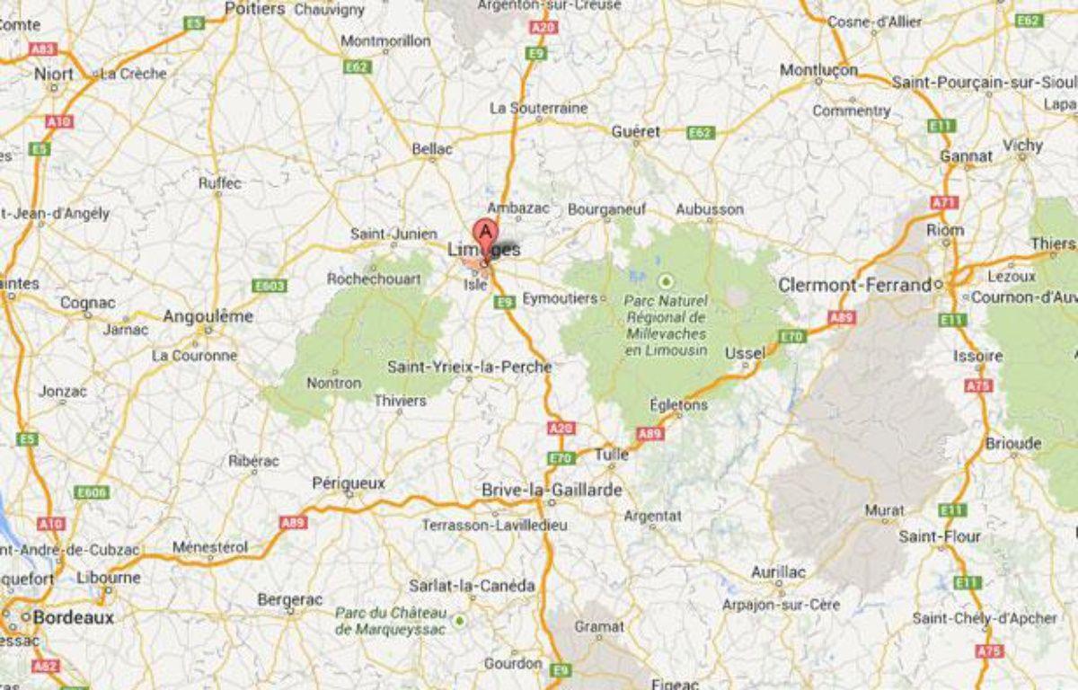 Google map de Limoges. – Google Map