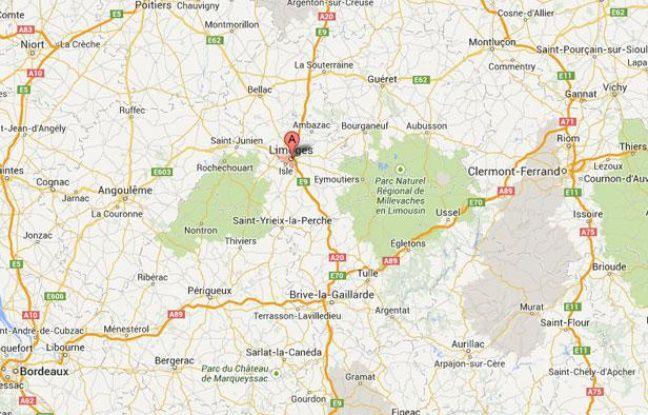 Google map de Limoges.