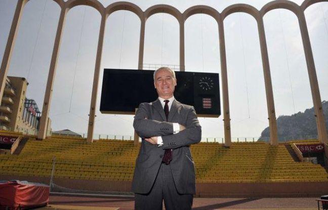 Claudio Ranieri, entraîneur de l'ASMonaco, lors de sa présentation au stade Louis II, le 31 mai 2012.