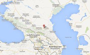 Grozny, ville du sud de la Russie, où un joueur a craché sur un arbitre en plein match.