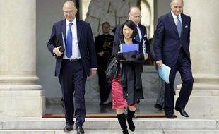 Pierre Moscovici et Fleur Pellerin ont reçu les répresentants du mouvement des entrepreneurs «pigeons» jeudi 4 octobre 2012 à Bercy.