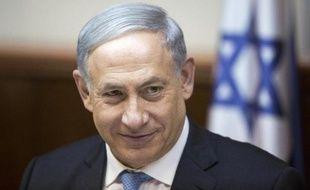 Le Premier ministre israélien Benjamin Netanyahu lors de la première réunin de son gouvernement le 15 mai 2015 à Jérusalem