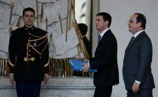 Francois Hollande et Manuel Valls à l'Elysée le 27 janvier 2016