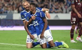 Ludovic Ajorque et Habib Diallo (à droite), le duo gagnant de la soirée.