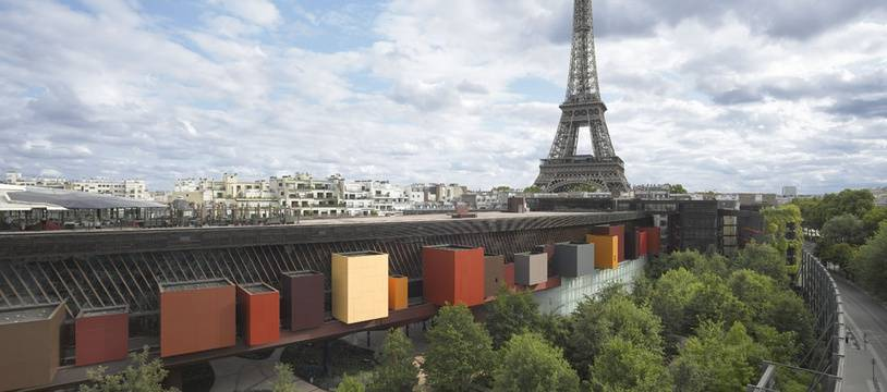 Vue sur le musée du quai Branly, à Paris