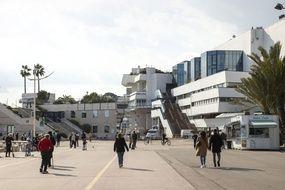 Le Palais des festivals et des congrès de Cannes, le 20 mars 2021