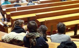 Des étudiants du campus Lyon-II (Illustration).