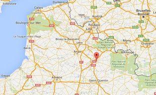 Localisation de Cambrai (Nord)