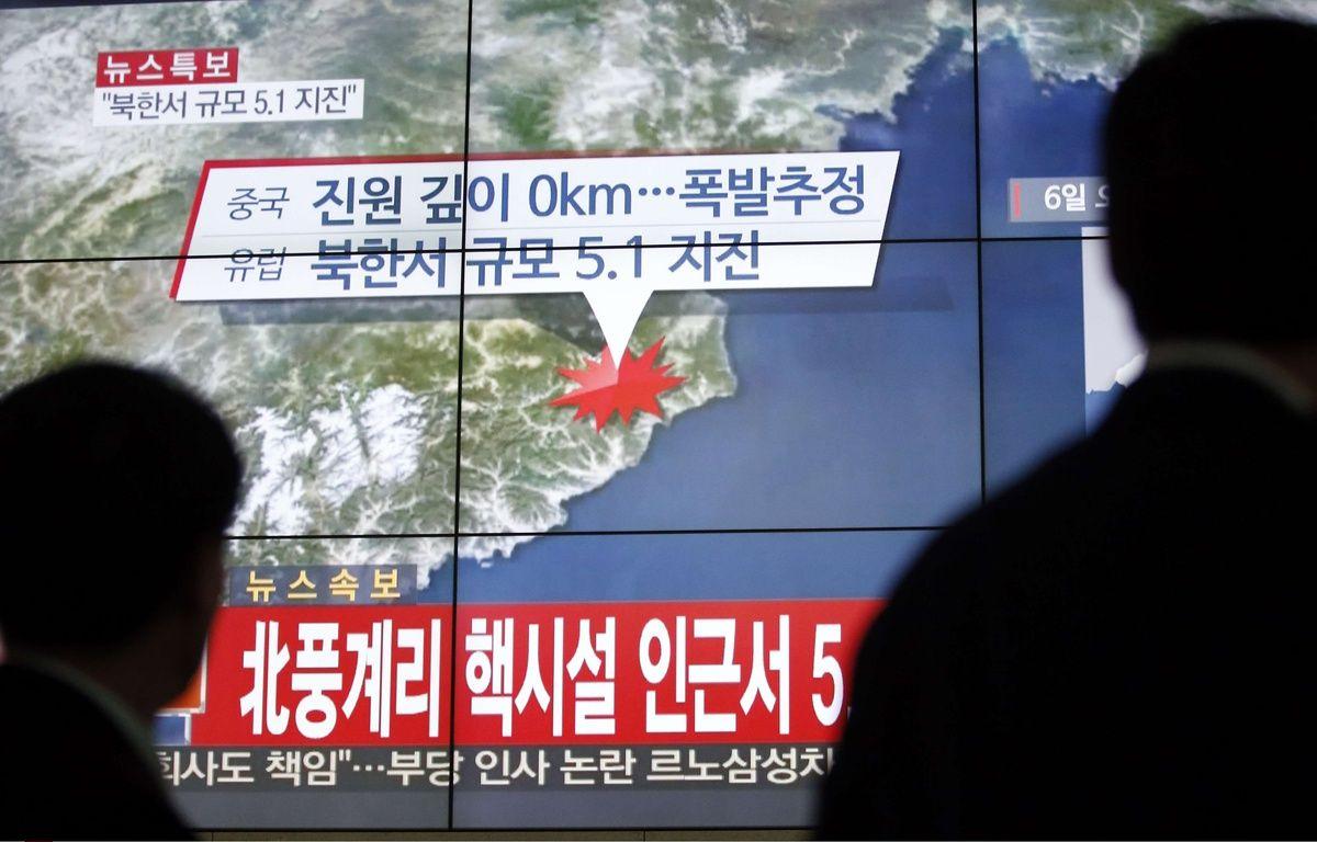 La Corée du Nord aurait procédé à son 4e essai nucléaire, le 6 janvier 2015. – L.JIN-MAN/AP/SIPA