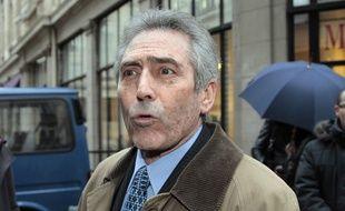 Paris, le 11 janvier 2011. Dominique Courtois, président de l'Association de défense des victimes d'erreurs médicales.