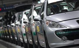 Une usine de montage PSA Peugeot Citroën