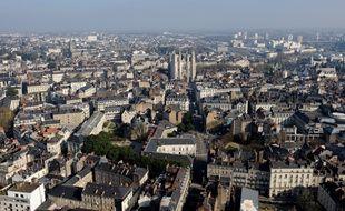 Vue aérienne de Nantes
