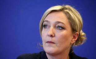 Marine Le Pen, lors d'une conférence de presse le 7 mars 2011