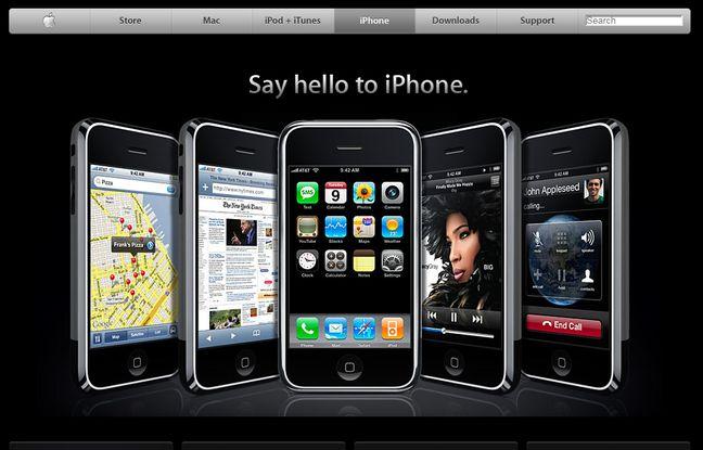 L'iPhone n'avait même pas de numéro tellement c'est vieux.