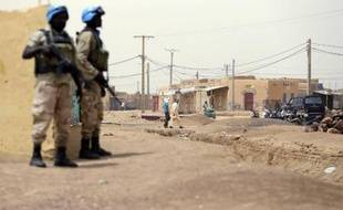 Des soldats des Nations unies patrouillent à Kidal (Mali) le 27 juillet 2013