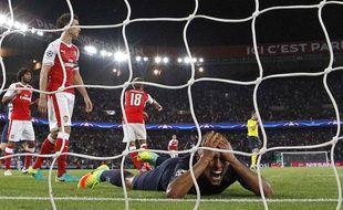Marquinhos, déçu lors du match entre le PSG et Arsenal le 13 septembre 2016.