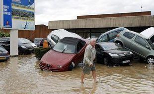 Draguignan a été touchée par de fortes inondations mardi 15juin 2010.